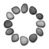Circle of pebbles Royalty Free Stock Photo
