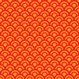 Circle peep. Abstract seamless repeat design with half circles peeping out from behind each other Royalty Free Stock Photography