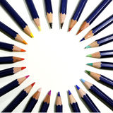 Circle of pencils Stock Photo