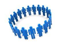 Circle of people Stock Photos