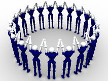 Circle Of People. 3d Circle Of People royalty free illustration