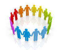 Circle of people Royalty Free Stock Photo