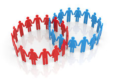Circle of people Stock Image