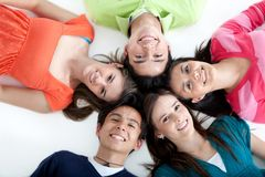 Circle of people smiling Royalty Free Stock Photo