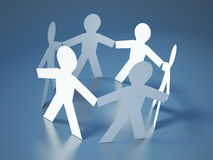 Circle of People for Teamwork Concept Stock Images