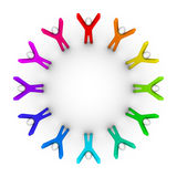 Circle of peoples. Colorful circle of peoples (unity concept Stock Image