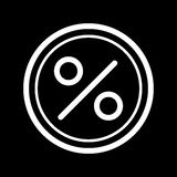 Circle Percent vector icon. Black and white finance illustration. Outline linear icon. Eps 10 Stock Photos