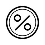 Circle Percent vector icon. Black and white finance illustration. Outline linear icon. Eps 10 Stock Images