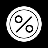 Circle Percent vector icon. Black and white finance illustration. Outline linear icon. Eps 10 Royalty Free Stock Image