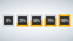 Circle percentage,Performance analysis in percent, square number 0,25,50,75,100,  infographic isolated on black background. Circle percentage,Performance Royalty Free Stock Photos
