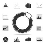 Circle Pie Chart icon. Detailed set of Trend diagram and chart icons. Premium quality graphic design. One of the collection icons. For websites, web design Stock Photography