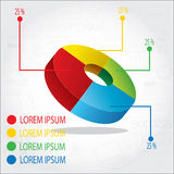 Circle Pie Chart info graphic Royalty Free Stock Photography