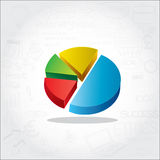 Circle Pie Chart info graphic Stock Images