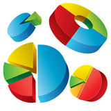 Circle Pie Chart Infographic Royalty Free Stock Photos