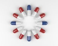Circle of Pills. To Symbolize the Clock Royalty Free Stock Photo