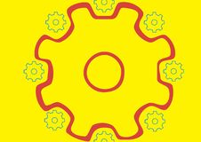 Circle of pinions Royalty Free Stock Images