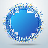 Circle pixel movement. digital circle movement. vector stock. Stock Photos