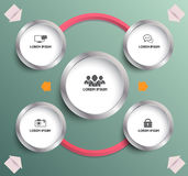 Circle planing with icons Stock Images