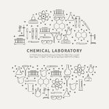 Circle poster chemical lab. Royalty Free Stock Photo