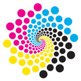 Circle with print colors. Royalty Free Stock Photo