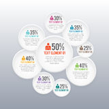 Circle Profile Rating Infographic. Vector illustration of circle profile rating infographic Royalty Free Stock Photo