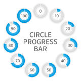 Circle progress bar. Royalty Free Stock Photos