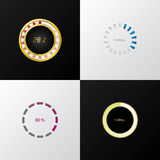 Circle progress indicators Stock Images