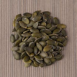 Circle of pumpkin seeds Royalty Free Stock Image