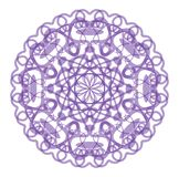 Circle purple lace star pattern Royalty Free Stock Photography