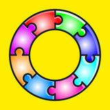 Circle puzzle stock images