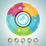 Circle Puzzle Infographic Elements Set Royalty Free Stock Image