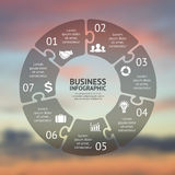 Circle puzzle infographic. Template for cycle Stock Images