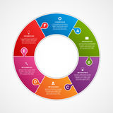 Circle puzzle options infographics template. Stock Photography