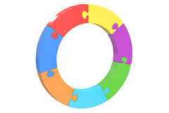 Circle puzzle, strategy and success concept Stock Photo