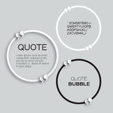 Circle Quote bubble. Speech bubble. Stock Photos
