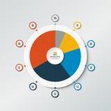 Circle radar, spider net chart, graph. Stock Image