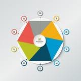 Circle radar, spider net chart, graph. Royalty Free Stock Photography