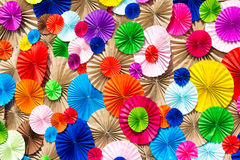 Circle radial  pattern origami paper craft  colorful Stock Image