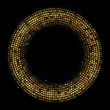 Circle Radius Abstract Golden Background Vector Illustration Royalty Free Stock Photo