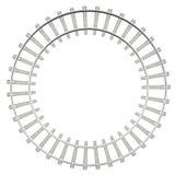 Circle railway isolated on white background Stock Photos
