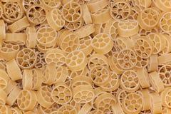 Circle raw pasta Royalty Free Stock Images