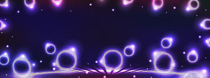 Circle ray light effect horizontal banner Stock Photo