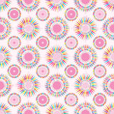 Circle ray pink symmtery seamless pattern Royalty Free Stock Images