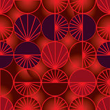 Circle ray slice sun feel seamless pattern Royalty Free Stock Photo