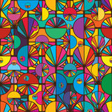 Circle ray slice symmetry seamless pattern Stock Photography