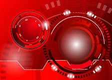 Circle red abstract techno background Stock Image