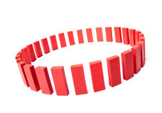Circle of red buidling blocks Stock Photos