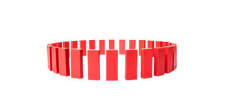 Circle of red building blocks Stock Photography