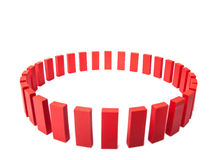 Circle of red building blocks Royalty Free Stock Photos