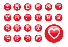 Circle red icons Stock Photography